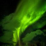 作品「燃え上がる冷たい炎 (Green fire flame)」