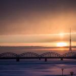作品「リガの夜明け(Riga Sunrise)」